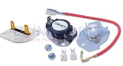 Dryer Thermal Cut Out Off Kit with Fuse 3390719 and 279816 for Whirlpool Kenmore