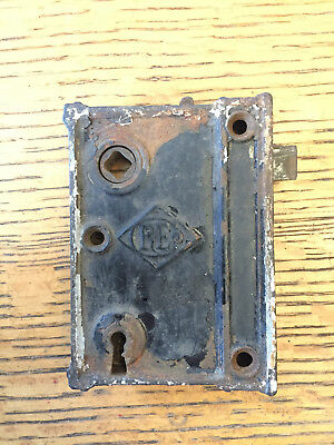 Antique RE box lock/rim lock