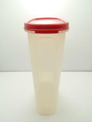 Tupperware # 5 Modular Mates 1615 Sheer Cherry Red Seal 12 1/4 Cups Container
