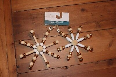2 Christmas Star Decorations Wondershop Target NEW