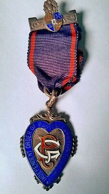Medaglia Silver Sterling  Indipendent Order Of Oddfellows-Manchester Unity