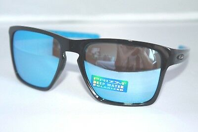 ec68124c68 NEW Oakley Sliver XL POLARIZED Sunglasses OO9341-12 Black W  Prizm Deep  Water