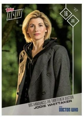 Jodie Whittaker as the 13th Doctor  (Doctor Who - Topps Now) RARE Trading Card