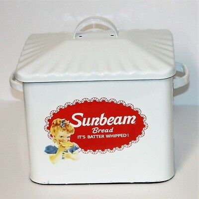 Enamel Sunbeam Bread Box