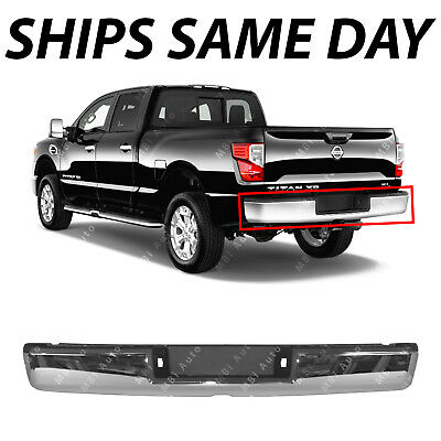 NEW Chrome Steel Rear Step Bumper Assembly for 2017 2018 Nissan Titan XD 17 18