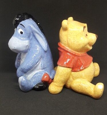 DISNEY Winnie The Pooh And Eeyore Ceramic Salt And Pepper Shakers Set Of 2