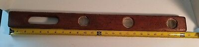Vintage 2 Foot Wooden Level, Tools, Construction, Carpenter.
