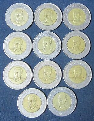 11 Old Dominican Republic coins