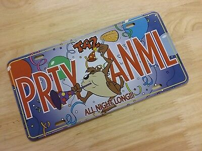 Taz Tazmanian Devil Party Animal License Plate Metal