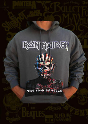 IRON MAIDEN THE BOOK OF THE SOULS METAL ROCK SKY BLUE MEN/'s T SHIRT SIZES