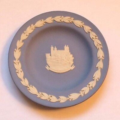 Lovely Wedgwood Blue TOWER OF LONDON Trinket Dish Plate 4 1/4""