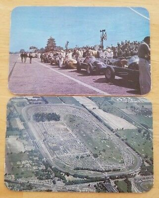 500 Mile Speedway Indianapolis Indiana Vintage Car Race Lot of 2  Post 1951/53
