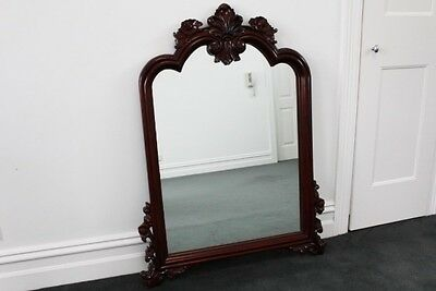 Mahogany Carved Period Mirror - Nice Condition