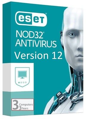 ESET NOD32 Antivirus 12 Genuine Product Key | License | 3 YEARS | 1 PC | NOD 32