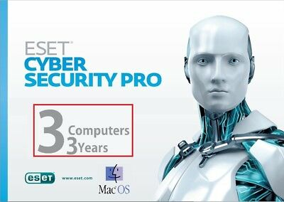 ESET Cyber Security Pro Genuine Product Key / License | 3 YEARS | 3 MAC | 2021 |