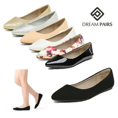 DREAM PAIRS Women's Slip On Flats Pointed Toe Ladies Classic Flat Shoes