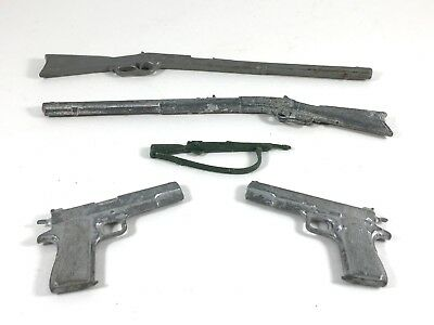 Lot of 5 Toy Vintage Miniature Guns Cast Metal and Plastic - Rifles and Handguns