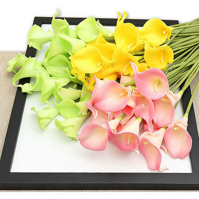 10pcs/lot Real Touch Calla Lily Artificial Flowers Wedding Party Decoration