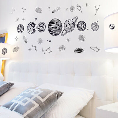 Outer Space World Wall Sticker Universe Planet Decor Vinyl Art Decal Kids Room
