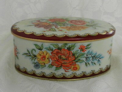 Vintage Tin ~ Shabby Cottage Chic ~ Floral ~ Daher ~  6'' Long
