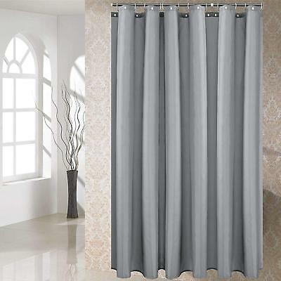 Mildew Resistant Shower Curtain With Hooks Waterproof Non Toxic Polyester Fabric