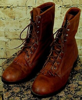 b3b325cd81e MENS SIZE 8.5 EE Ariat Boots Leather EUC Brown - $85.00 | PicClick