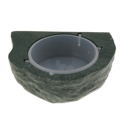 Mini Magnetic Feeding Ledge for Gecko Food or Water & Plastic Cup Bowl Green