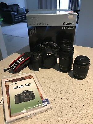 Canon 60d with 18-55mm + 55-250mm lens