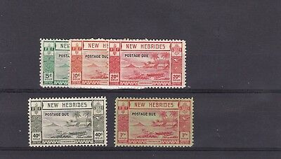 DB764) New Hebrides 1938 Postage Dues SG D6/10, mint unhinged