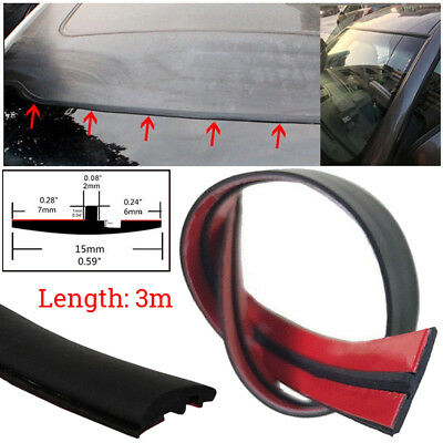 3m Seal Strip Trim For Car Front Rear Windshield Sunroof Weatherstrip Rubber