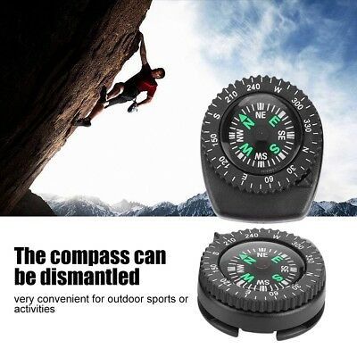 Mini Watch Band Slip Slide Navigation Wrist Compass for Survival Camping Hiking
