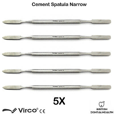5X Dental Cement Spatula Wax Amalgam Mixing Spatula Narrow German Stainless Ce