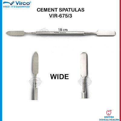 New Dental Cement Spatula Wax Amalgam Mixing Spatula Wide German Stainless Ce