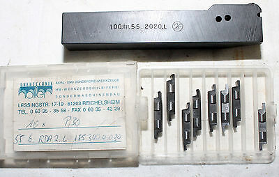 Turning Plate Turning Tool Indexable Tool Holder Holler 100.III.55.2020.L, New