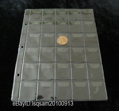 10 Pcs Album Pages 30 Pockets Coin Note Currency Holder 35*35mm Free Shipping