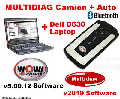 DIAGNOSI AUTO PROFESSIONALE MULTIMARCA WOW 2019 + PC Portatile Dell