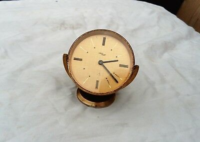 IMHOF Swiss Travel Clock Working.Desk.Vintage Old Retro