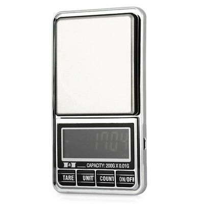 200g 0.01 DIGITAL ELECTRONIC POCKET JEWELLERY SCALES 10 milligram Micro-gm R9K5