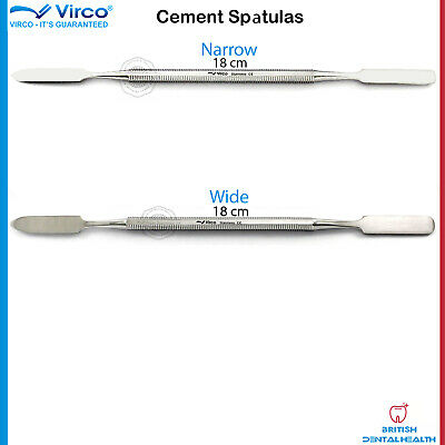 2X Dental Cement Spatula Narrow Wide Amalgam Mixing Heidmann Separating Spatula