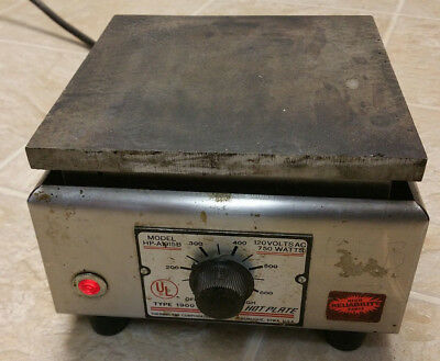 """Thermolyne HP-A1915B Hot Plate 6"""" x 6"""" Type 1900 tested working 120v 750w lab"""