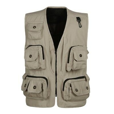 Outerwear & Coats , Photographer vest , 14 pockets , 3XL , Beige ,