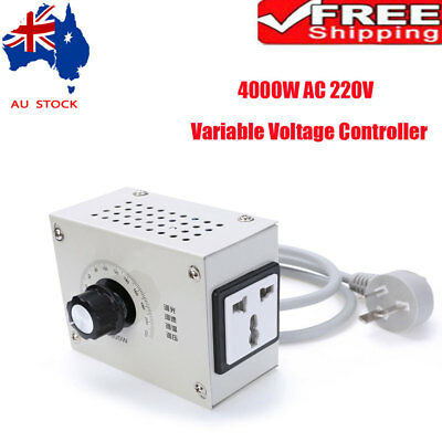 1X AU 220V 4000W AC Variable Voltage Controller for Light Fan Speed Motor Dimmer