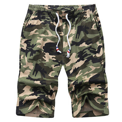 Mens Casual Camo Cargo Shorts Military Sport Army Camouflage Short Pants M-4XL