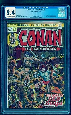 CONAN THE BARBARIAN 24 CGC 9.4 NM * 1st FULL RED SONJA * LOWEST PRICE ON EBAY
