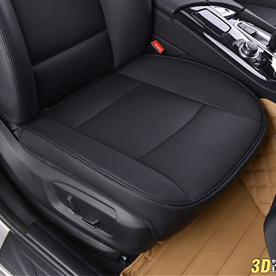 Black Front PU Leather Deluxe Car Cover Seat Protector Cushion Cover Universal*1