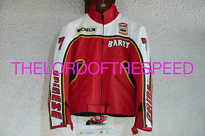 Barry Sheene Dainese Vintage Jacket Motorcycle Leather Suit Barry Sheene Agv 7