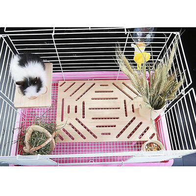 Rabbit Foot Pad Chinchilla Guinea Pig Scratching Wood Board Pet Toy