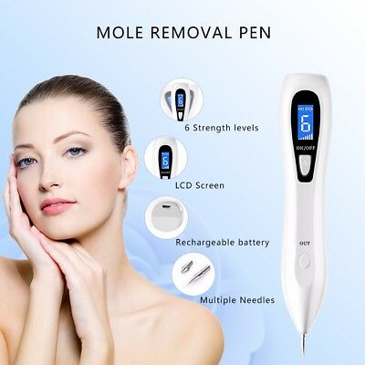 Mole Removal Pen LCD Display Professional Skin Tag Remover Tool for Body Facial