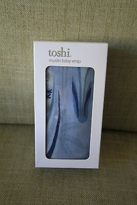 Toshi muslin baby wrap blue surfboards
