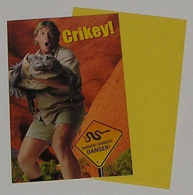 Crocodile Hunter Steve Irwin Collectible - Crikey Birthday Card - 2004 Hallmark